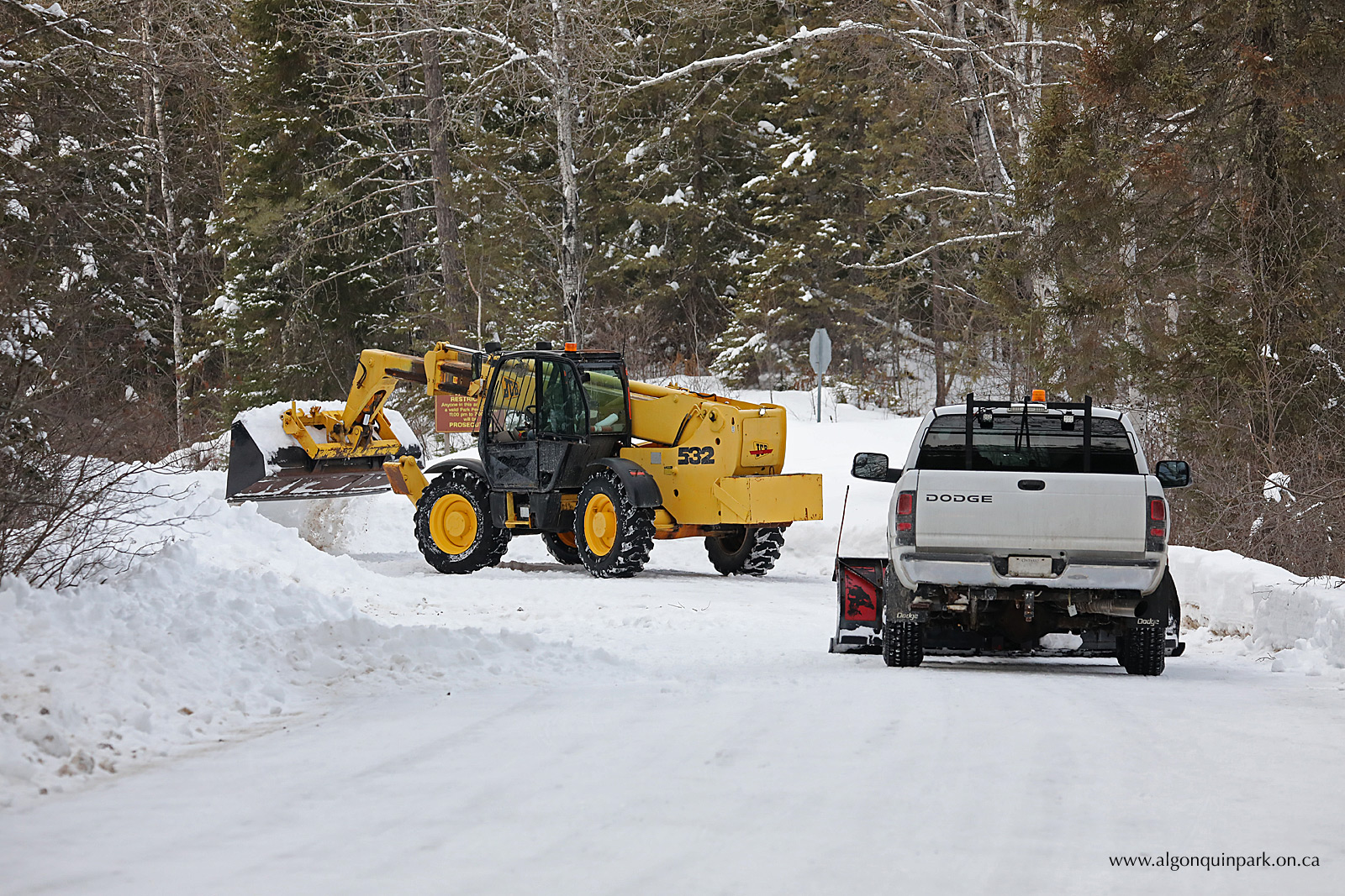 Snowplowing the Opeongo Road
