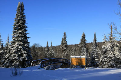 Western Uplands Backpacking Trail in Winter, Algonquin Park