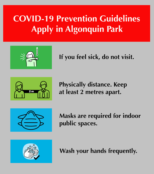 COVID-19 Preventions Guidelines Apply in Algonquin Park