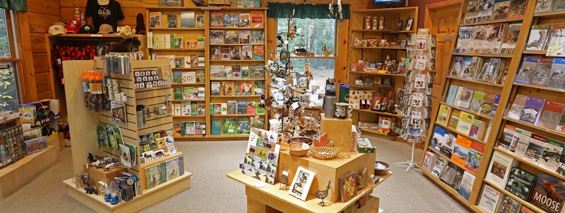 Retail at the Algonquin Logging Museum Bookstore and Nature Shop