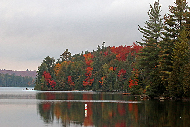 Canoe Lake in Algonquin Park on October 6, 2016.