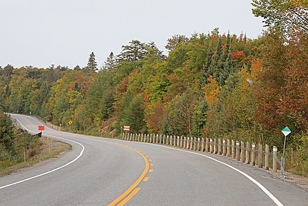 Between the West Boundary of Algonquin Park and the West Gate on September 16, 2020