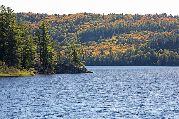 Lake of Two Rivers in Algonquin Park on September 21, 2020