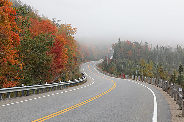 Approaching the West Gate in Algonquin Park on September 24, 2020