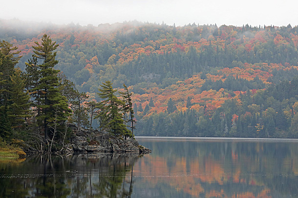 Lake of Two Rivers in Algonquin Park on September 24, 2020