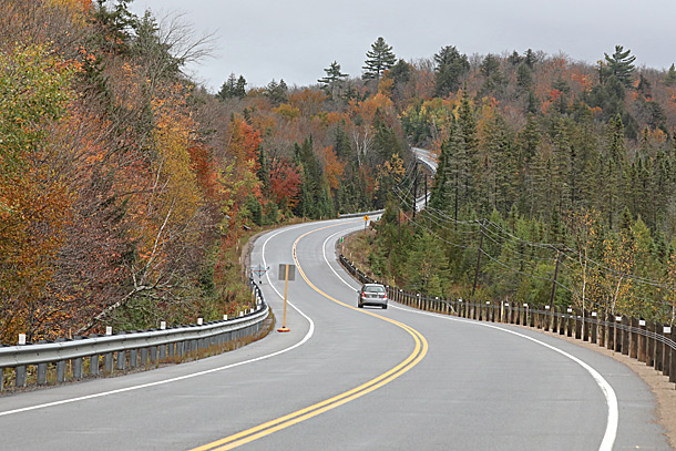 Approaching the West Gate in Algonquin Park on October 2, 2020