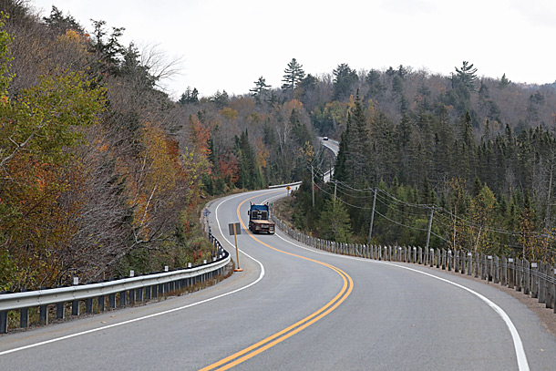 Approaching the West Gate in Algonquin Park on October 6, 2020