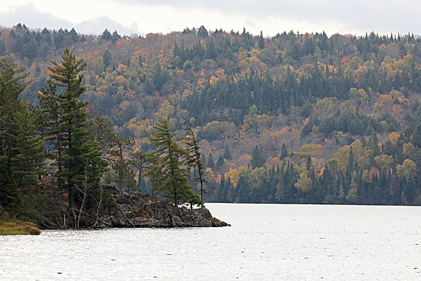 Lake of Two Rivers in Algonquin Park on October 6, 2020