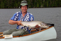 Greg Betteridge with a Lake Trout in Algonquin Park