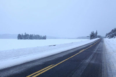 Highway 60 Algonquin Park in Winter
