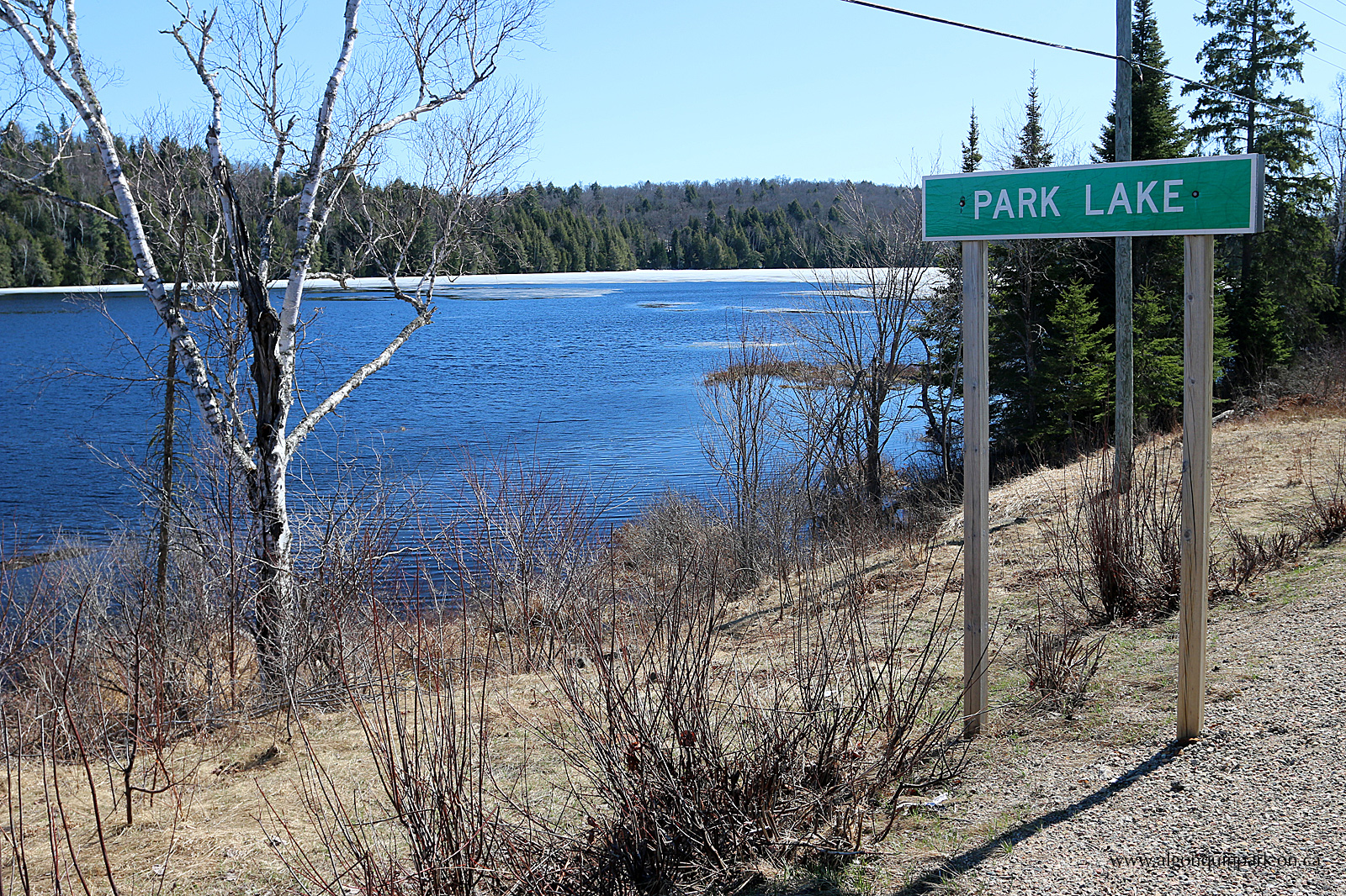 Park Lake in Algonquin Park on April 20, 2016