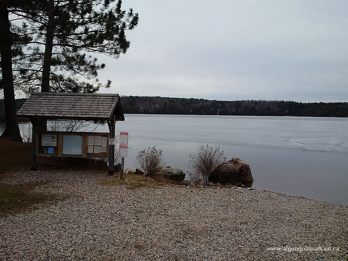 Kiosk Campground in Algonquin Park on April 25, 2016