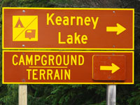 Kearney Campground Highway Sign
