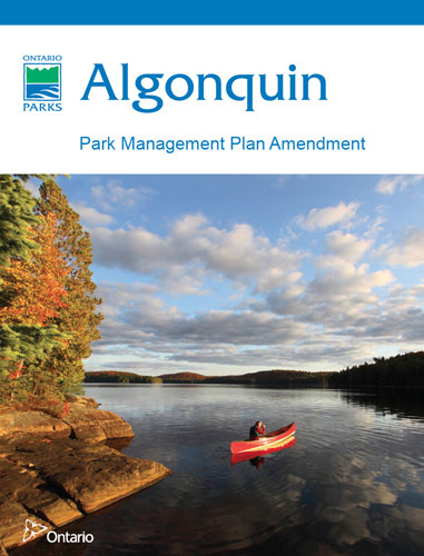 Algonquin Park Management Plan Amendment 2013 Cover