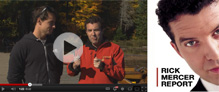 Rick Mercer kayaks with Adam van Koeverden in Algonquin Park during fall