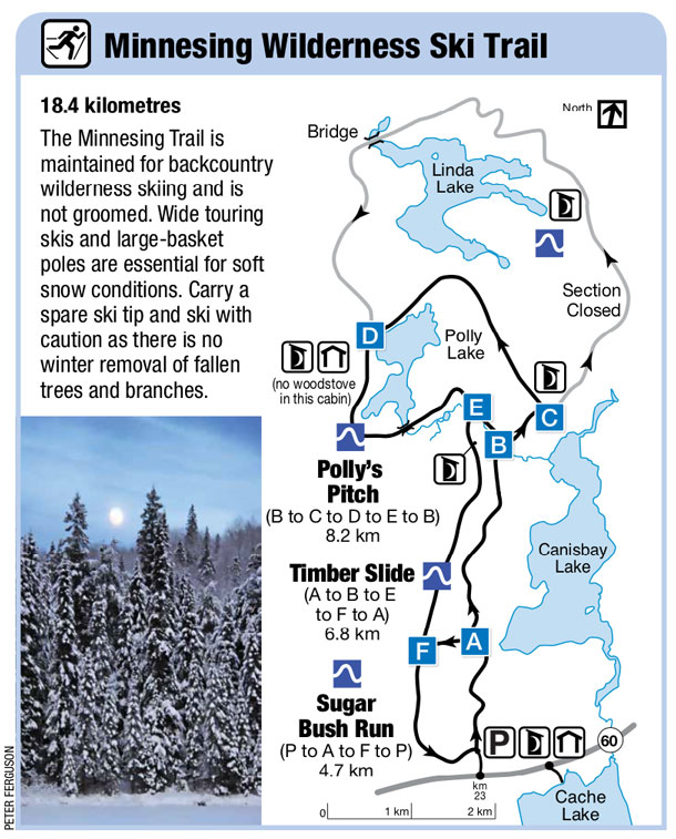 Minnesing Wilderness Ski Trail Map