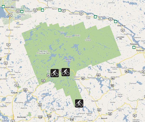 Bike Trails in Algonquin Park