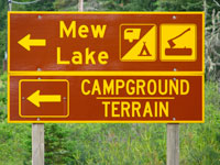 Mew Lake Campground Sign