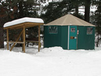 Mew Lake Campground Yurt in Winter