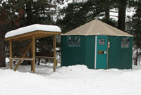 Winter Yurt at Mew Lake Campground Algonquin Park