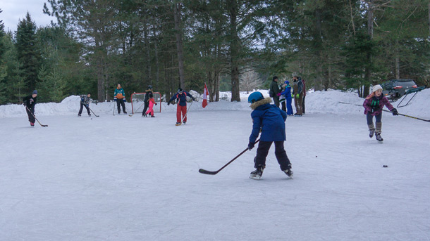 Ice Skating Rink in Algonquin Park