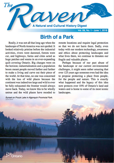 Raven Newsletter - Birth of a Park