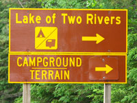 Lake of Two Rivers Campground Sign