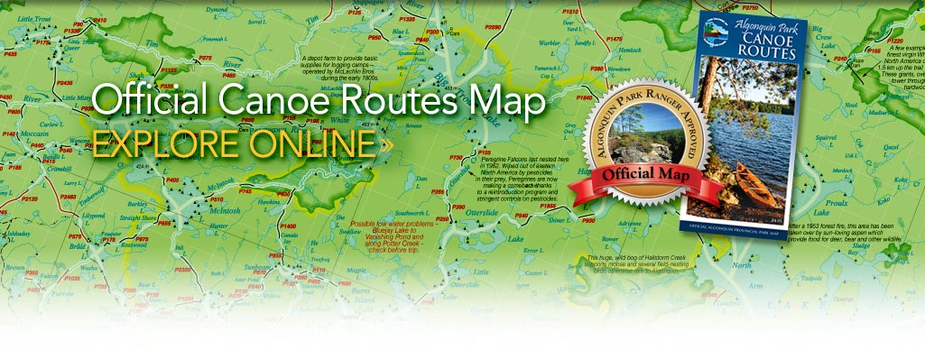 Official Algonquin Park Backcountry Canoe Routes Map Online